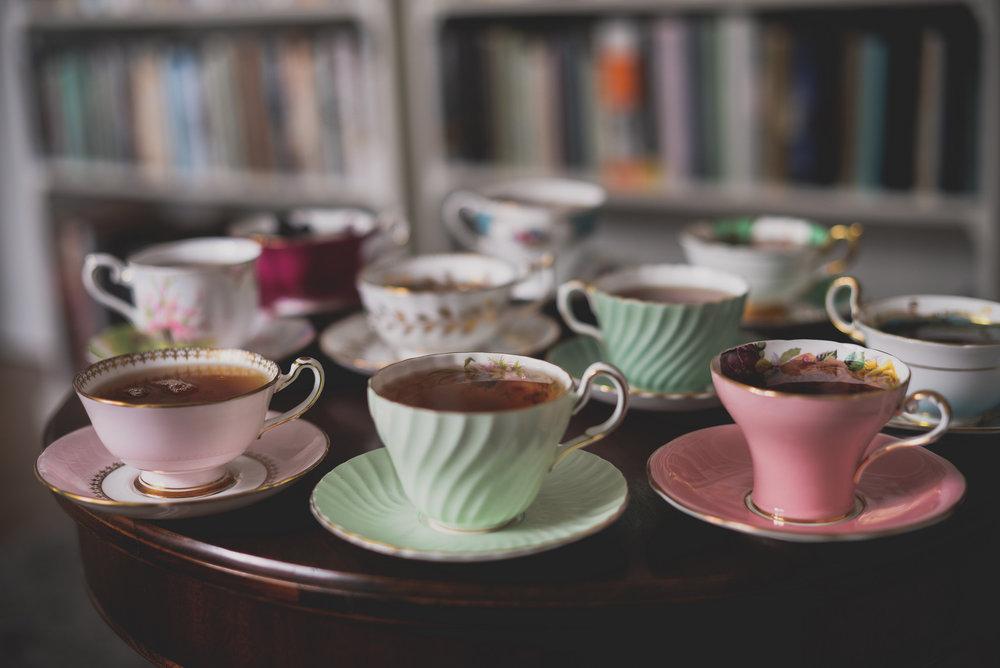 abundance of teacups