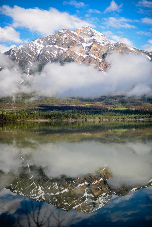 Mountain reflection, Pyramid Lake