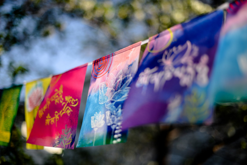 colourful prayer flags