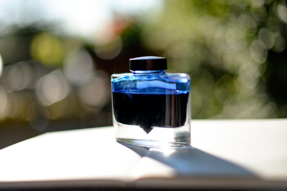 blue pilot ink