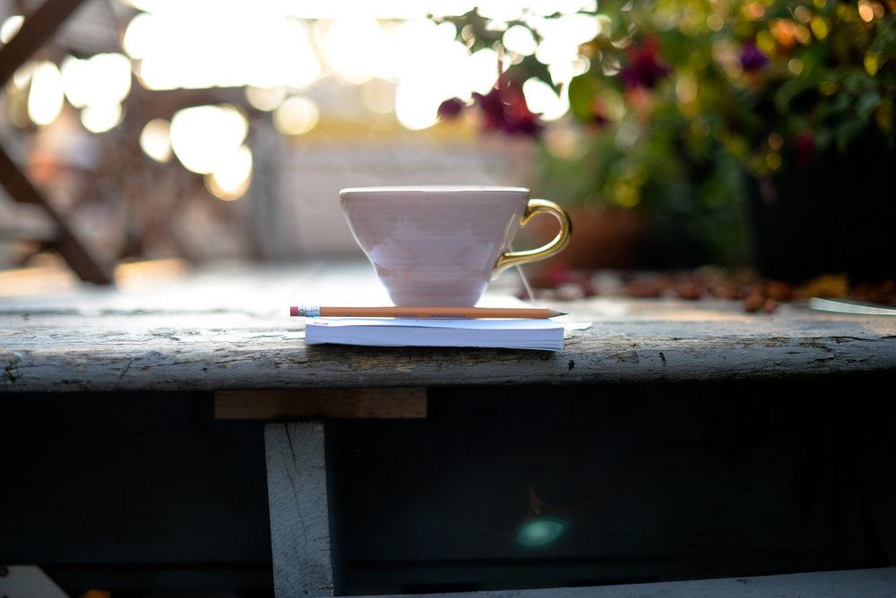 pink mug with steam
