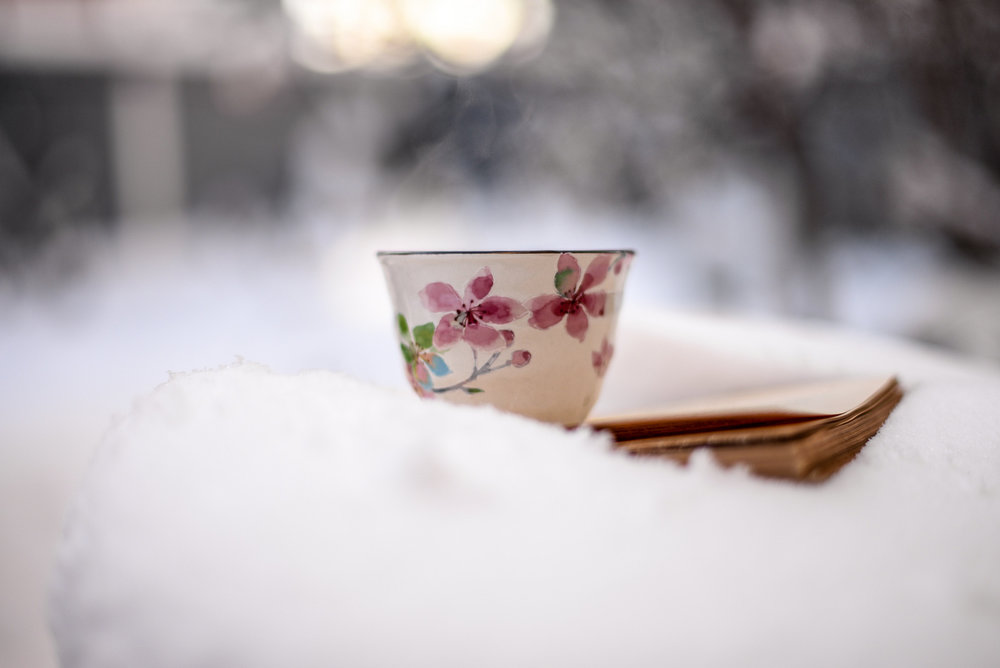 tea in the snow