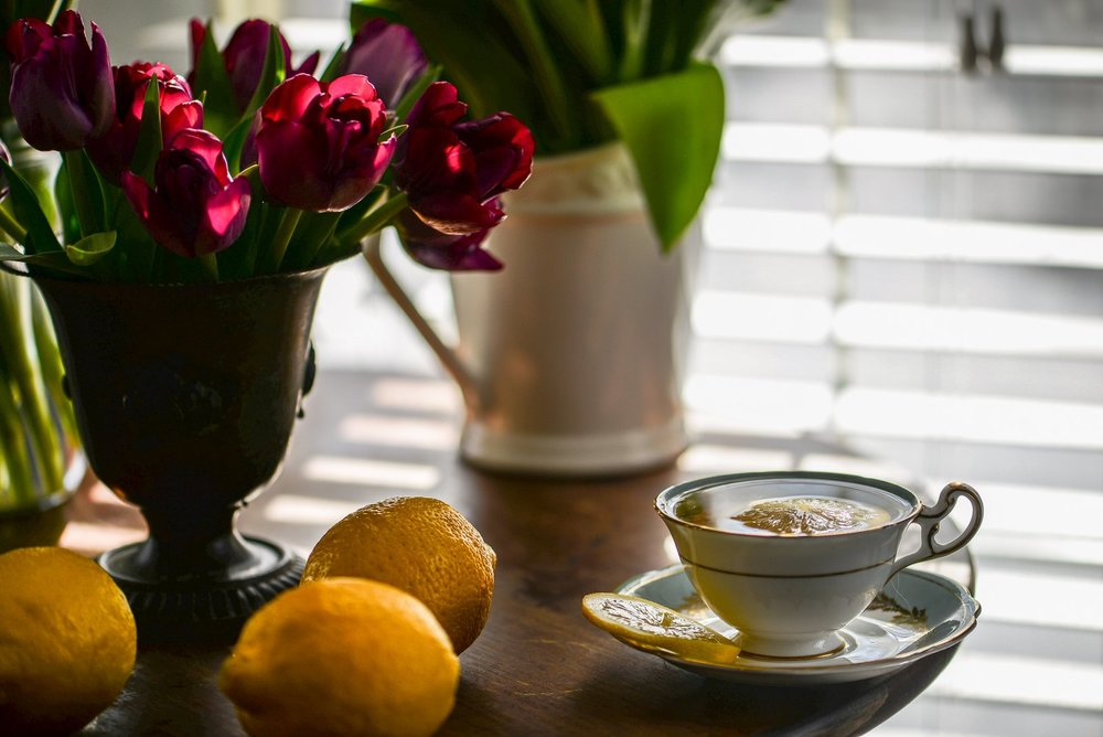 tea and lemons