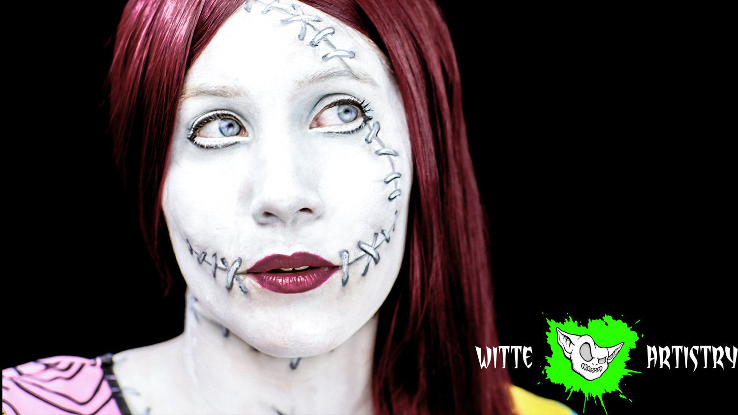 Christmas Halloween Makeup.The Nightmare Before Christmas Sally Halloween Makeup