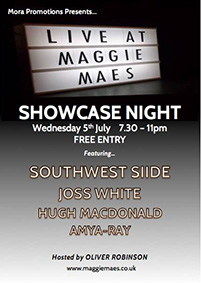 Very excited to be playing in Brighton again, Maggie Mae's, 69-71 Preston Street in the town centre