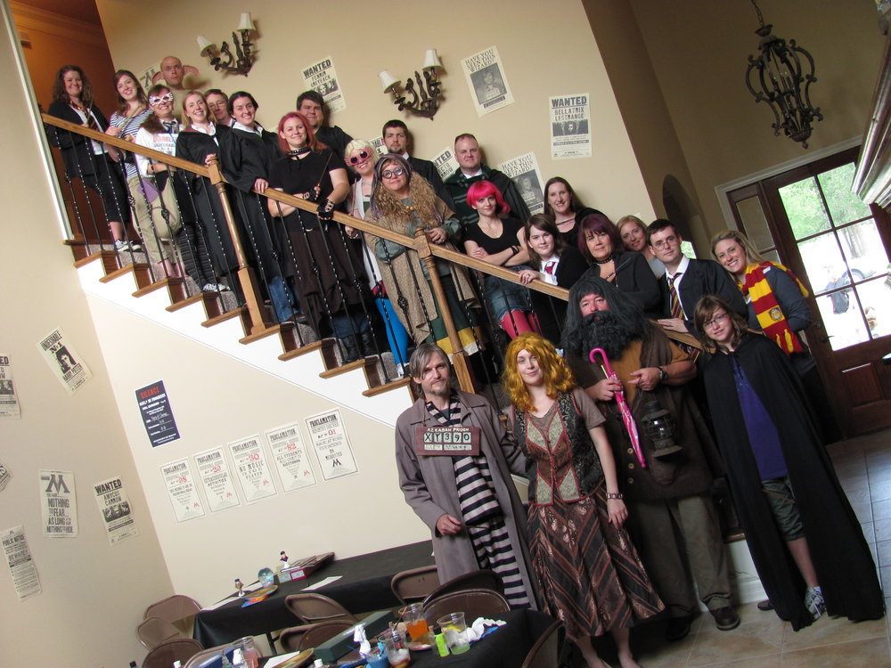 I wasn't kidding about the no Muggles in this crowd. And this is just a portion of the partygoers!