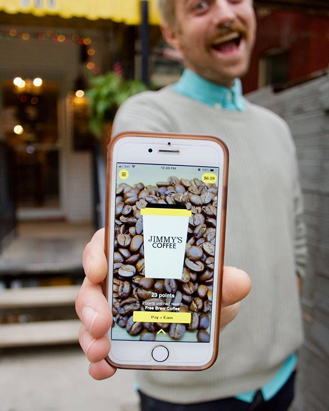 "We've been brewing up some ideas to get you back into the New Year! For the next four weeks we're giving you guys DOUBLE BONUS POINTS for you & every person you refer that downloads the Jimmy's App. Once they make their first purchase, both of your accounts will be rewarded! 💛⠀ To find your personal referral code, go to the ""Rewards"" section of your app and then hit ""Earn Points"". It's a great way for both you and your pals to earn more points this New Year!"