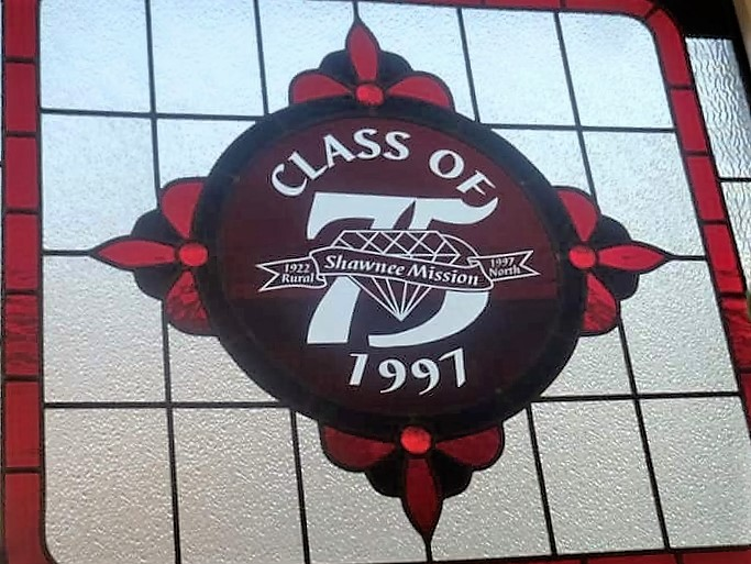 Our class gift in 1997 was this stained glass window!