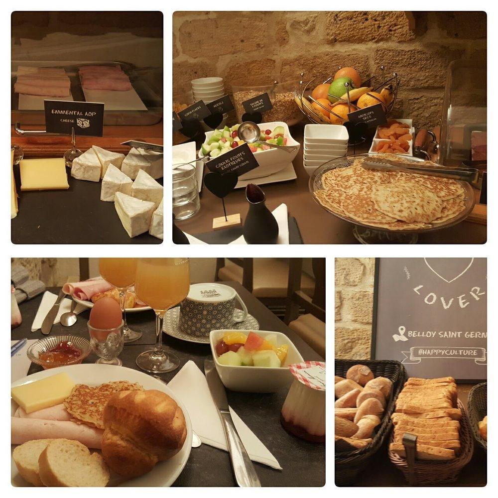 Buffet breakfast at Belloy St Germaine