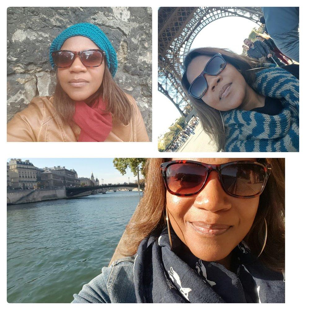 My scarves in Paris.