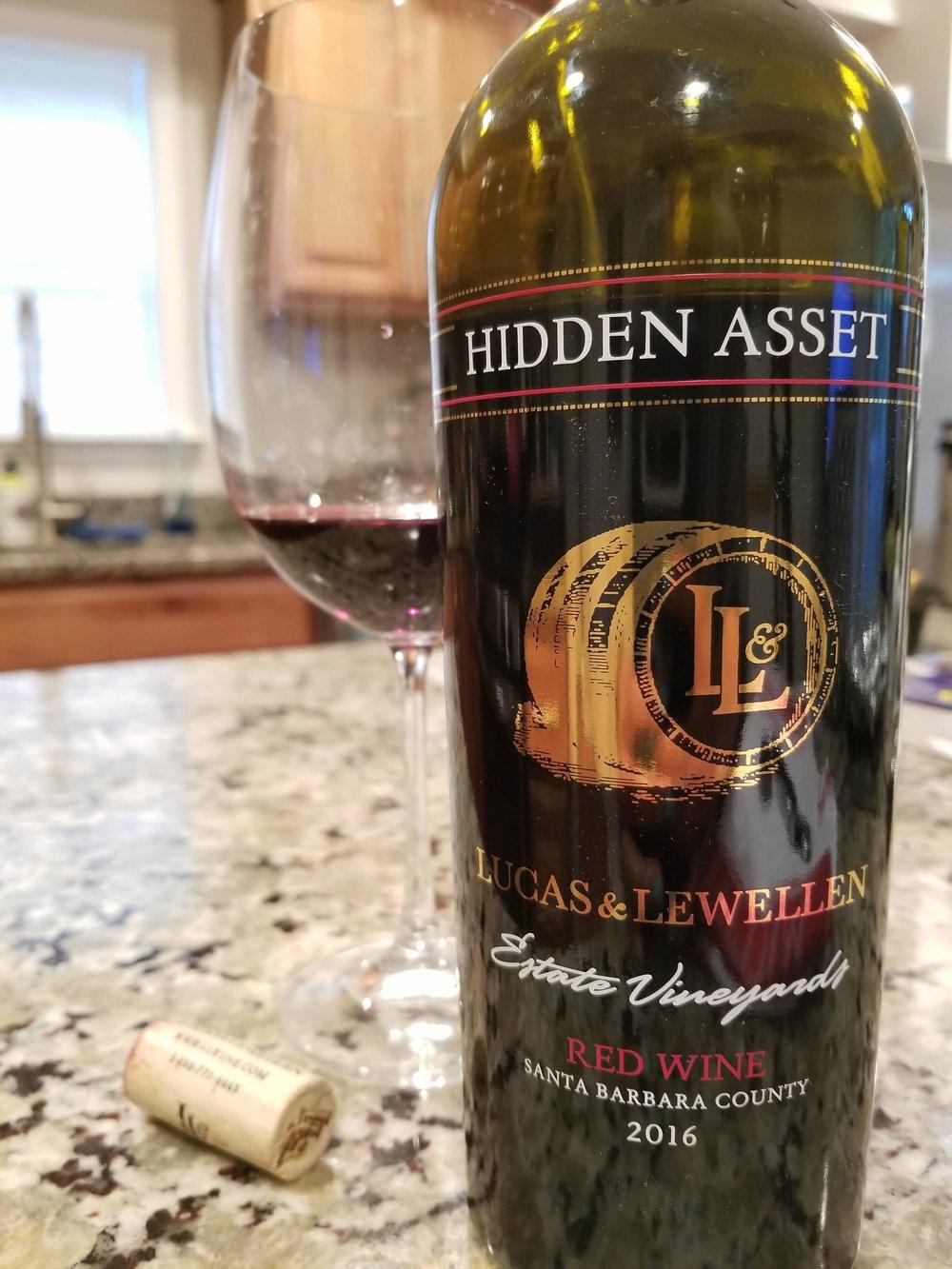 Lucas & Lewellen Vineyards,Hidden Asset Red Blend,$29   Disclosure:This sample was sent as a sample.