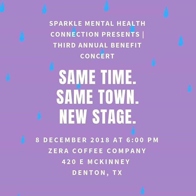 Hey friends!! I'm so thrilled about tomorrow's 3rd Annual @sparklemhc Benefit Show!! Wanted to make sure and share the latest update though!! Due to the weather plotting its downpour on us, the VENUE HAS CHANGED. I repeat. THE VENUE HAS CHANGED. Everything else is staying the same; the time, the artist lineup, (@pauldemer & @joepatnev) the town. Please come on out, sip on some yummy @zeracoffee, enjoy the music, & help #spark those conversations that bring honesty, hope, and light to #mentalhealth.  SEE YOU THERE!! ❤️
