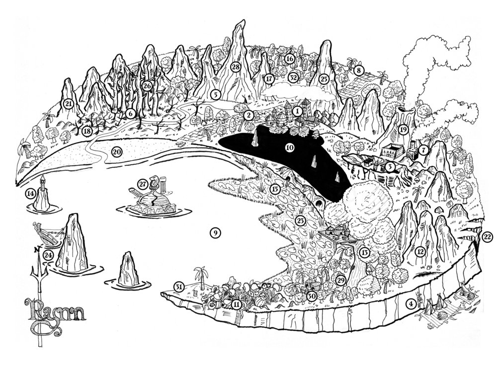 ...and the Isle of Rynn: Land of the Lizard Kings - The pre-historic land where dino-riders, tar-fields, and ever-burning mountains are a way of life. But Rynn's greatest challenge is yet to wake, asleep beneath the rising tide.