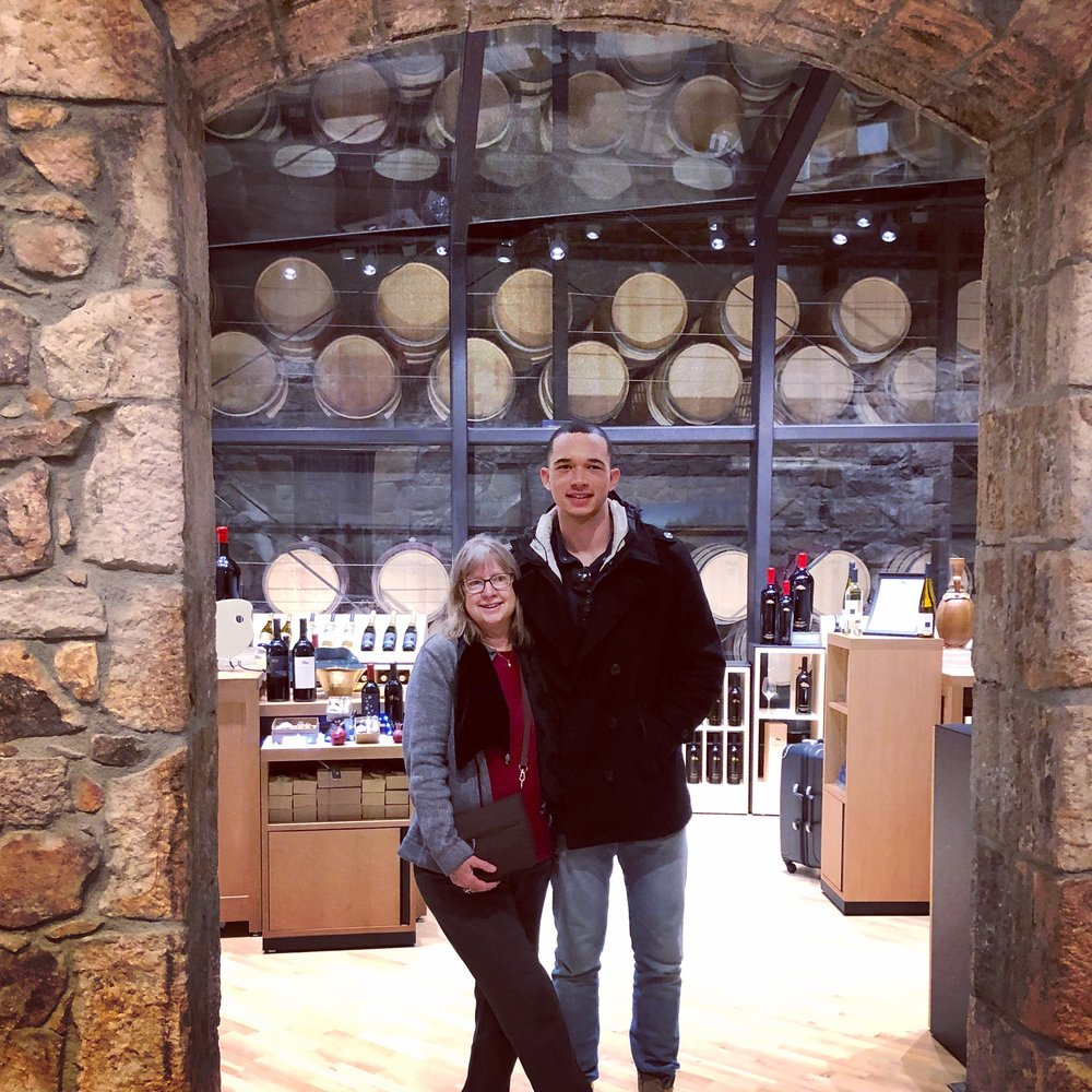 Karen and son, Andre. Napa, CA December 2018