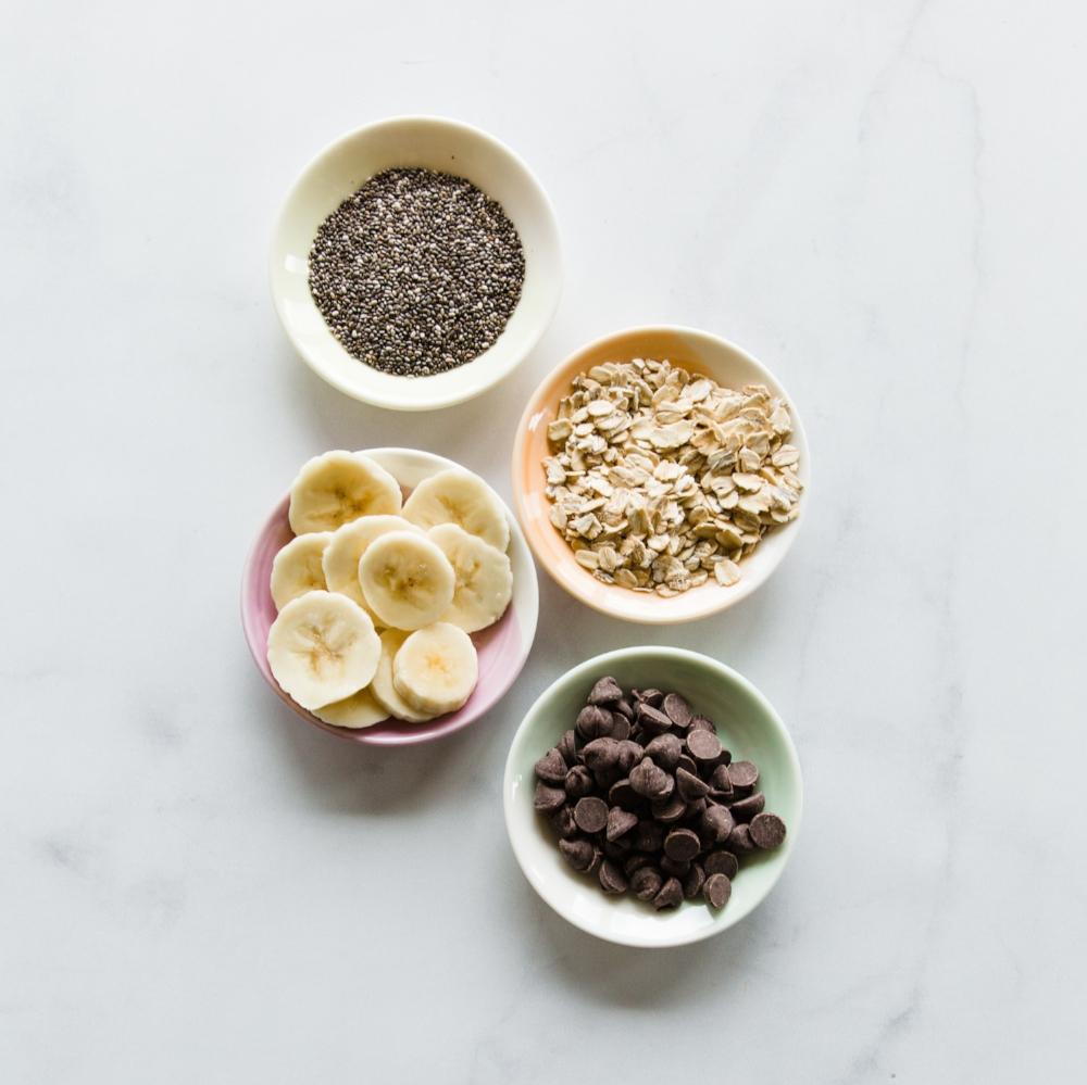 Dark Chocolate Chip Banana ONO ingredients