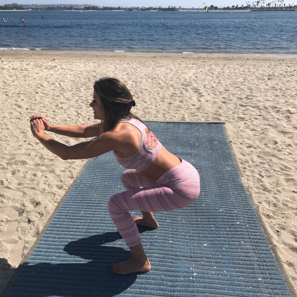 Our intern, Kara, shows us how to do a perfect squat!