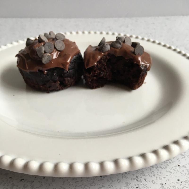 Vegan Gluten-free Chocolate Zucchini Muffins
