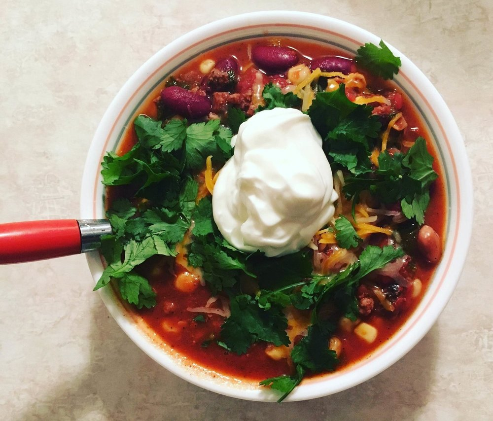 Spicy Bean and Kale Chili
