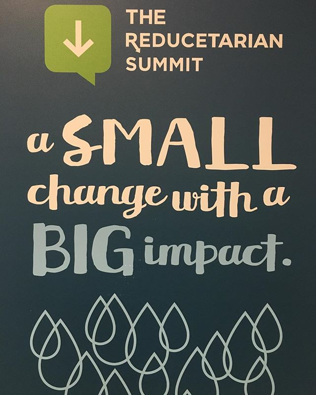 "At the Reducetarian Summit.  Quote from founder Brian Kateman. ""Make plant based foods accessible to everyday people so that it's easy to cut back on animal products- that is how we are going to secure a more sustainable healthy and compassionate world"" . . . . #smartchoices #glutenfree #plantbased #vegan #iinhealthcoach #sagehealthstyle #healthcoach #reducetarian #bethechange #yoga #hiking #losangeles #animalwelfare #eattherainbow #eatplants @reducetarian"