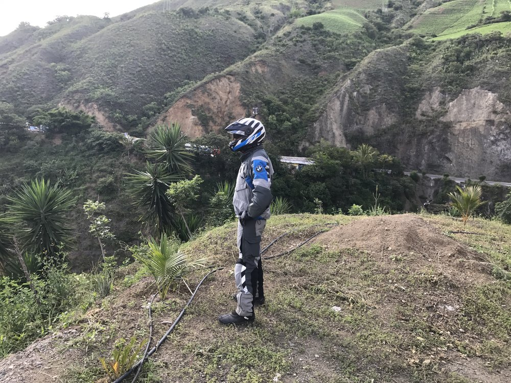 Omar surveying the landscape of southwestern Colombia.