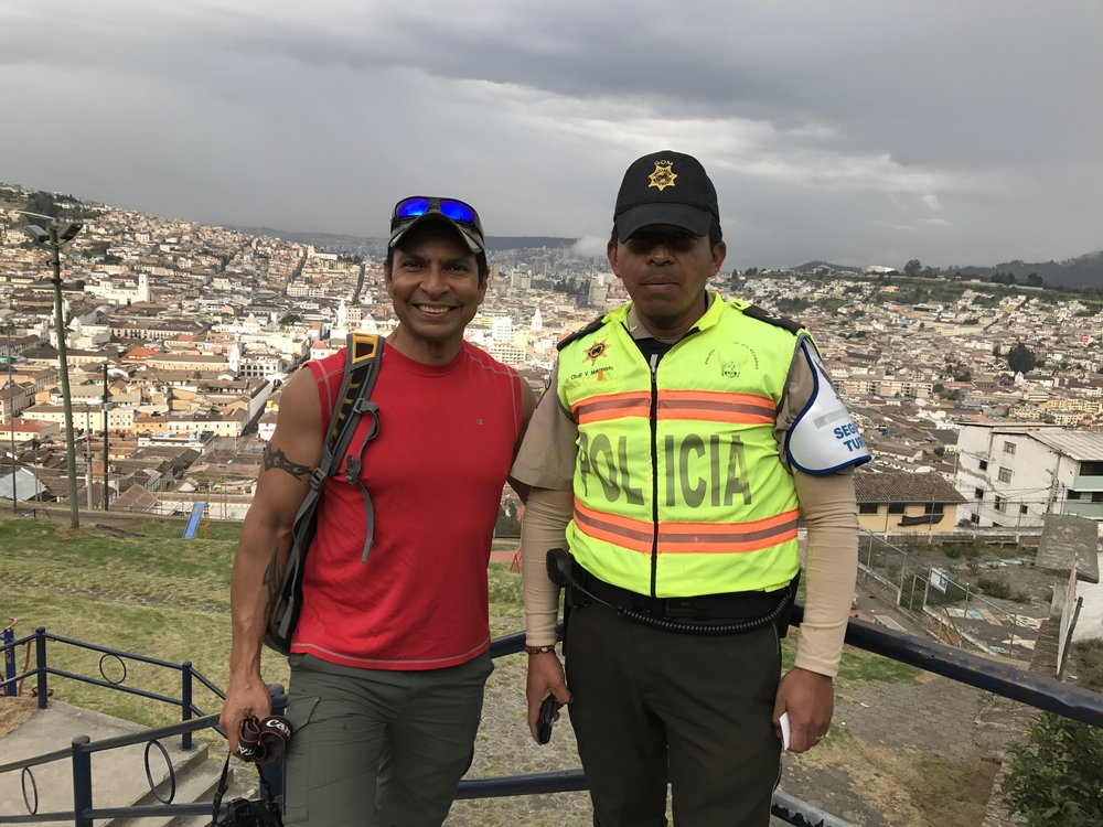 A friendly police officer we met on our tour of the city.