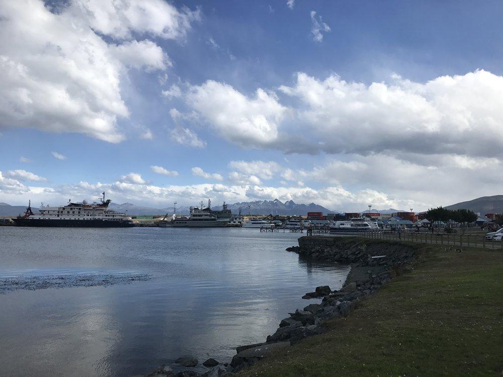 Harbor in Ushuaia.