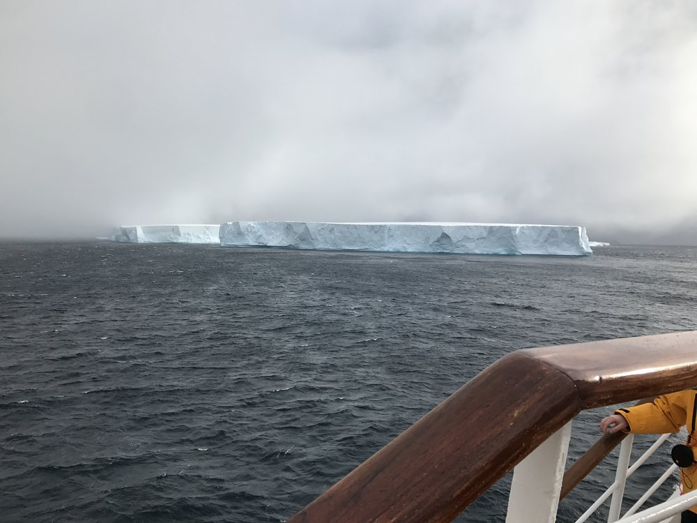 One of many tabular icebergs we saw that broke off of a glacier.