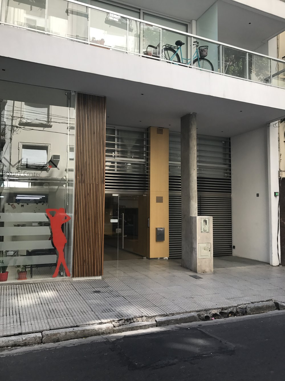 Entrance to apartment building in Buenos Aires.