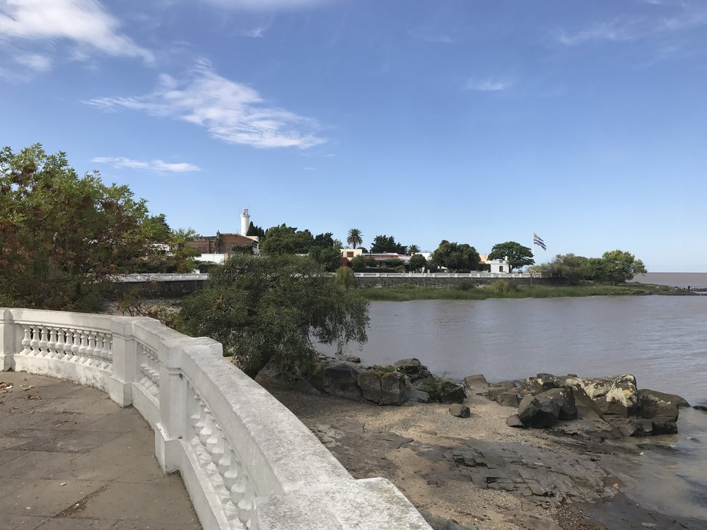Water front in Colonia, Uruguay.
