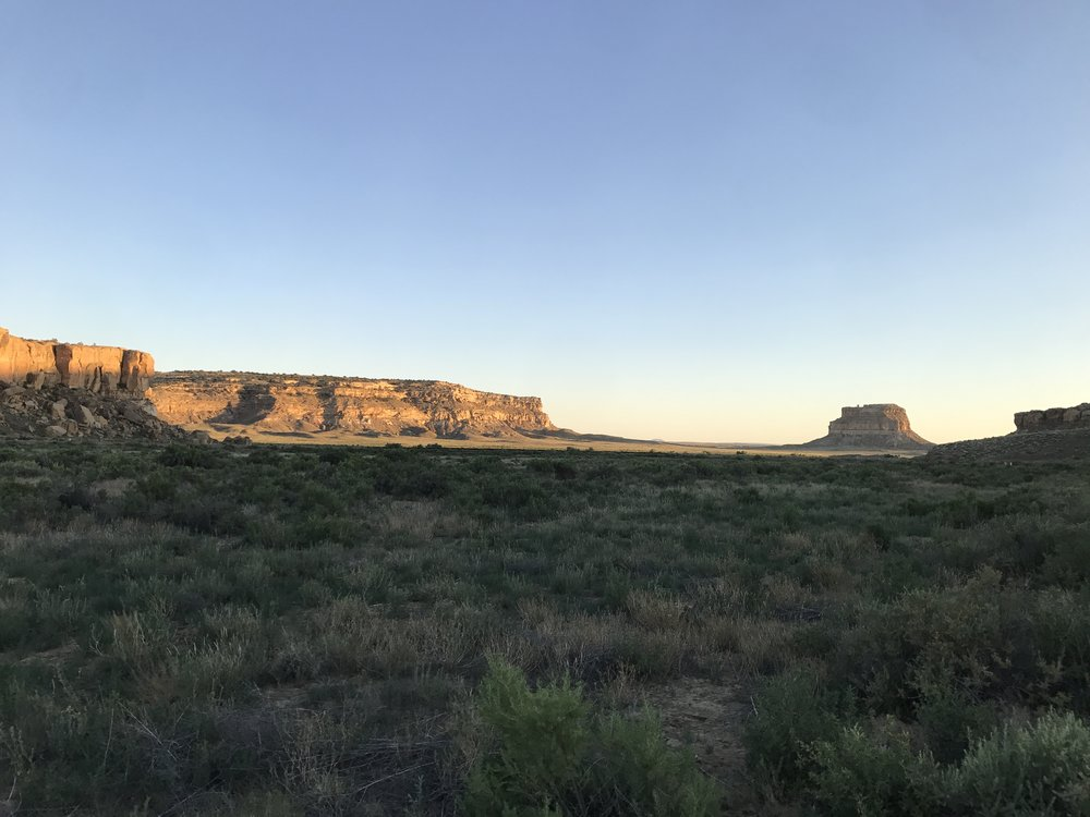 View from my camp site in Chaco Canyon.