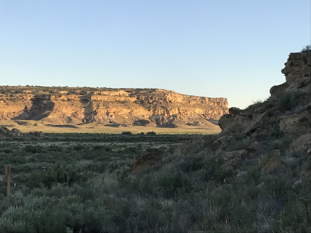Another view of Chaco Canyon near camp site.