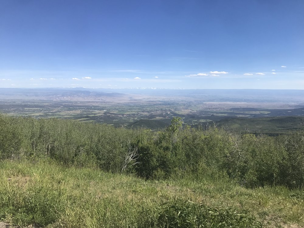 View from Grand Mesa looking south.