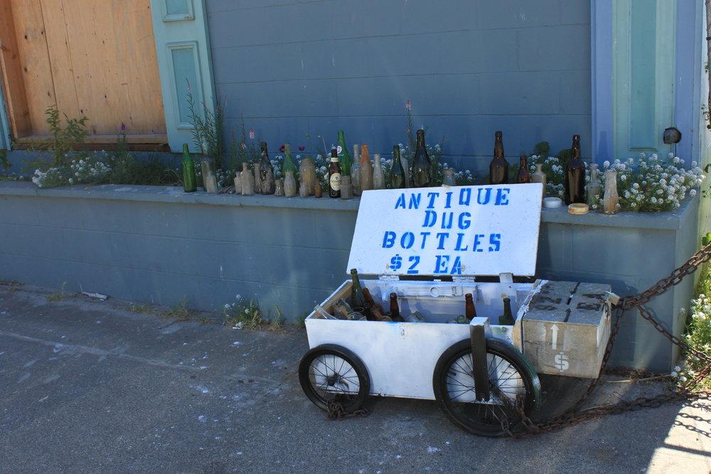 Honor system antique dug bottles - Port Townsend