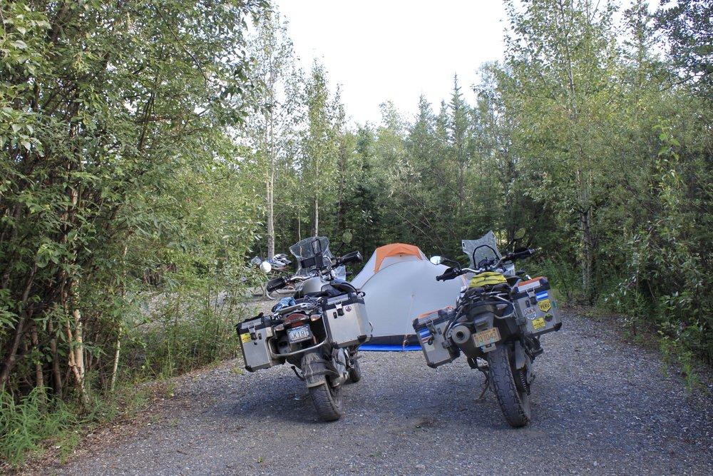Camping in Tok, Alaska.