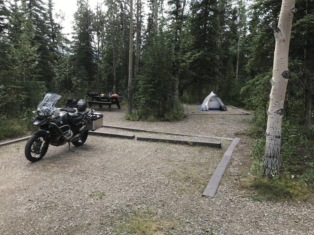 Campsite in Denali.