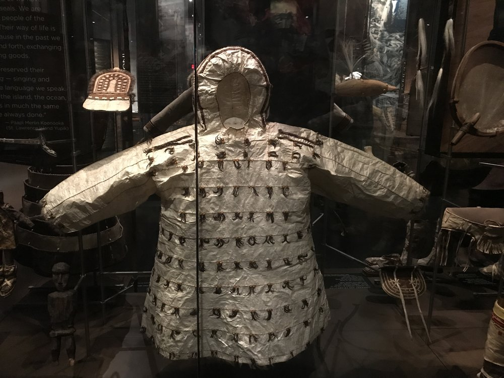 Raincoat made of seal intestines.