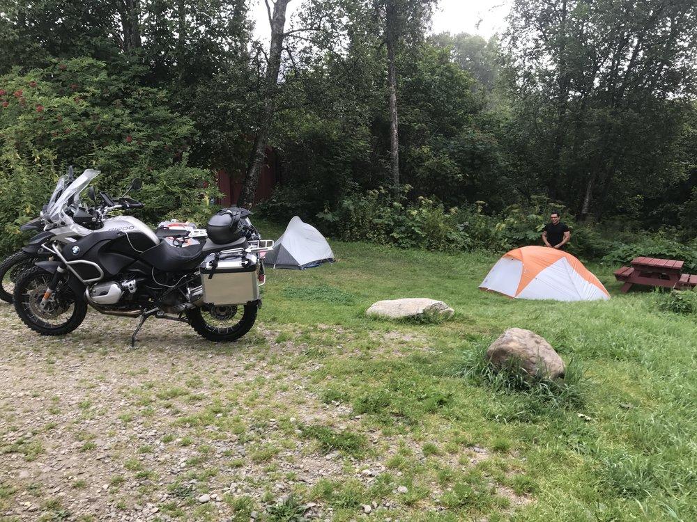 Campsite in Homer.