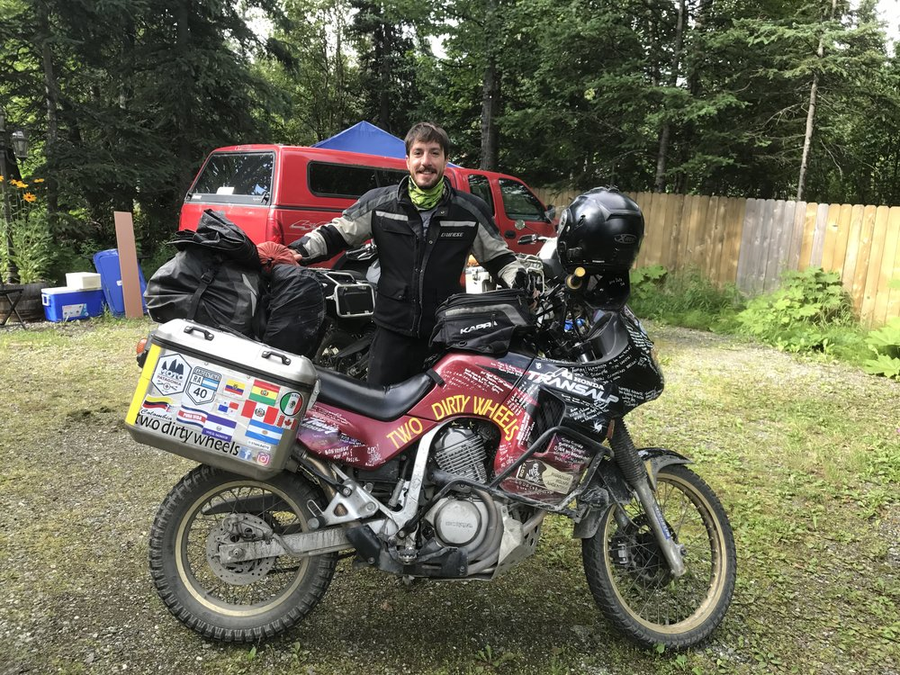 Tommy packed and ready for the Dalton Highway.