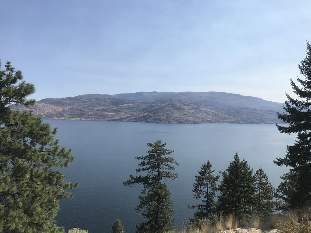 Okanagan looked like Lake Tahoe in some places.