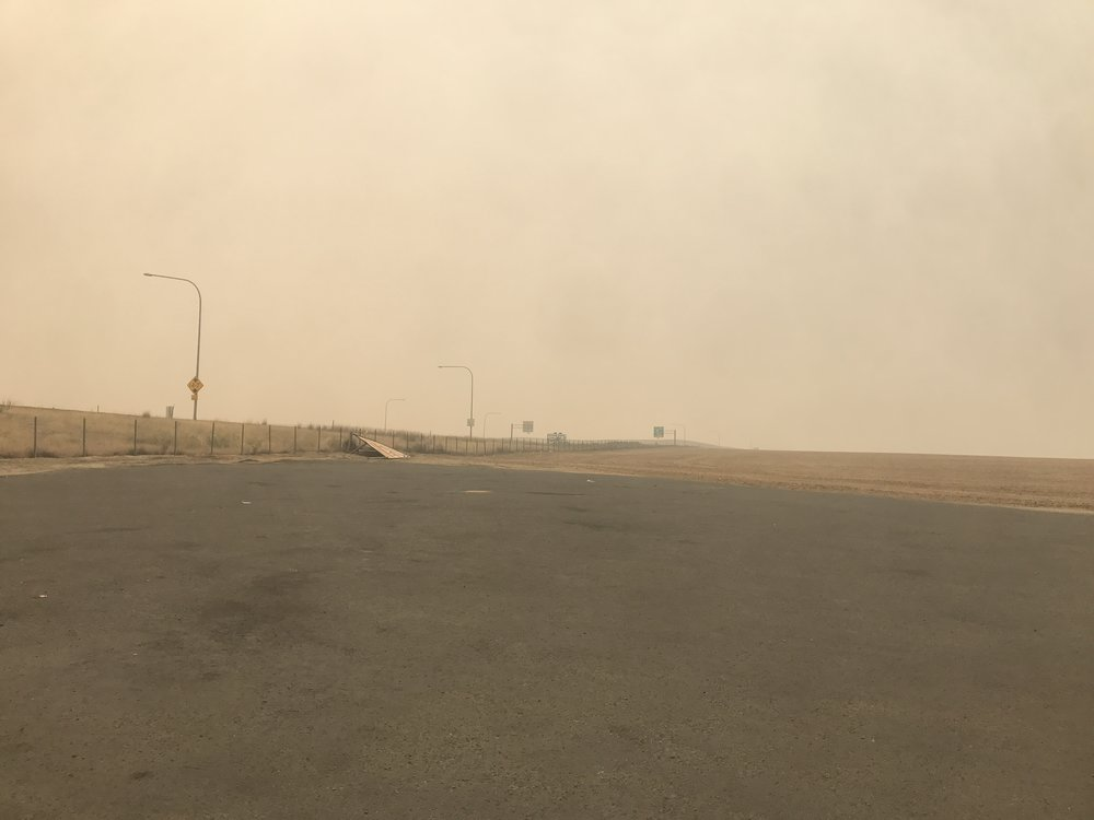 Smoke filled skies in central Washington.
