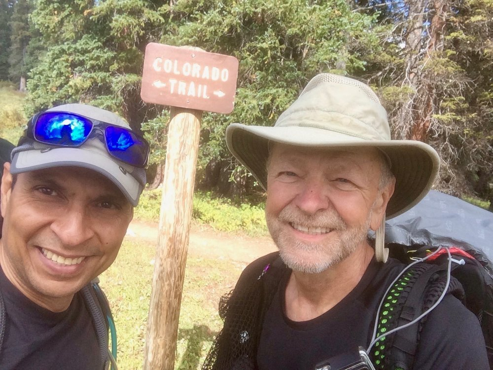 Omar and me in 2016 at the end of the Colorado Trail near Durango, Colorado.