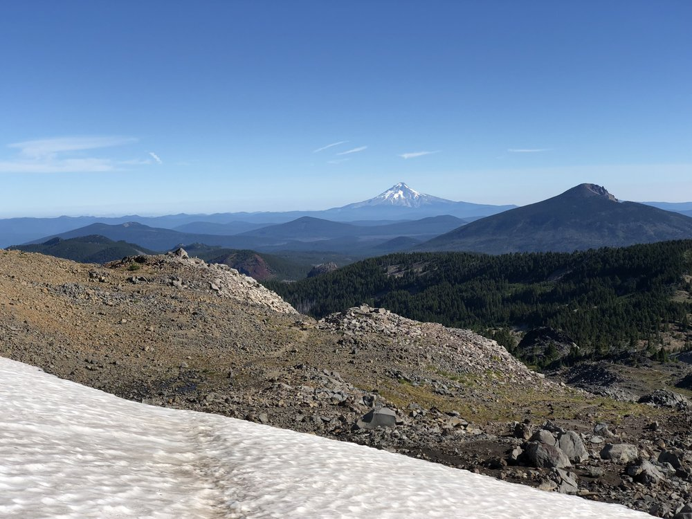 First view of Mount Hood in the distance.