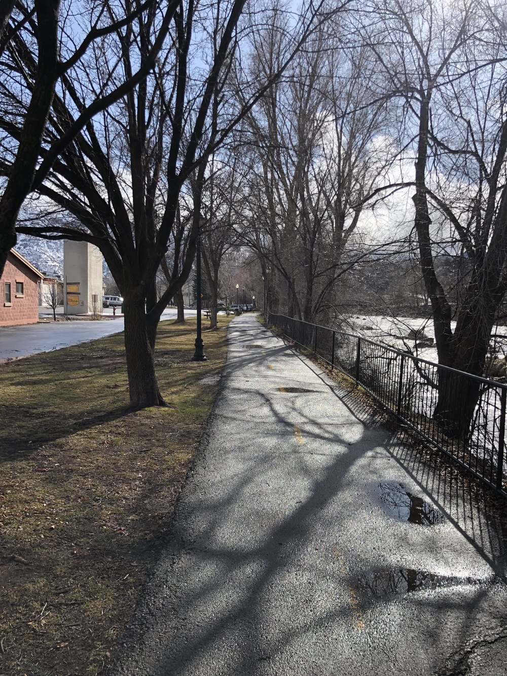 Animas River Trail in March. What a difference a couple weeks make.