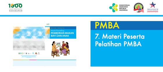 7. Materi Peserta Pelatihan PMBA