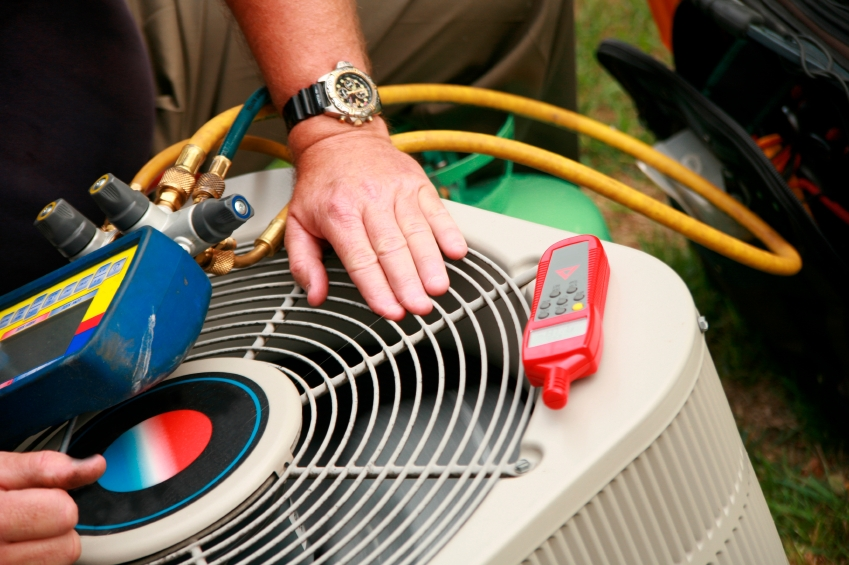 Service HVAC unit -