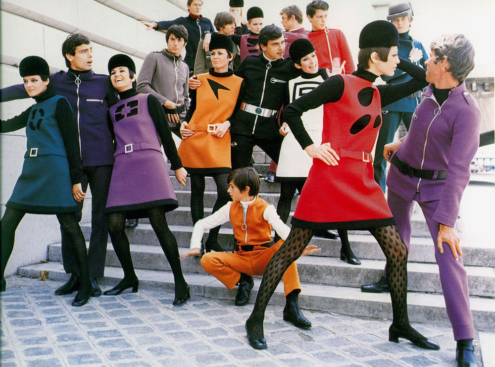 Lunar Landscape environment from Expedition: Fashion from the Extreme exhibition Pierre Cardin, Cosmocorps collection, 1967. Photograph by Yoshi Takata/DR. © Archives Pierre Cardin
