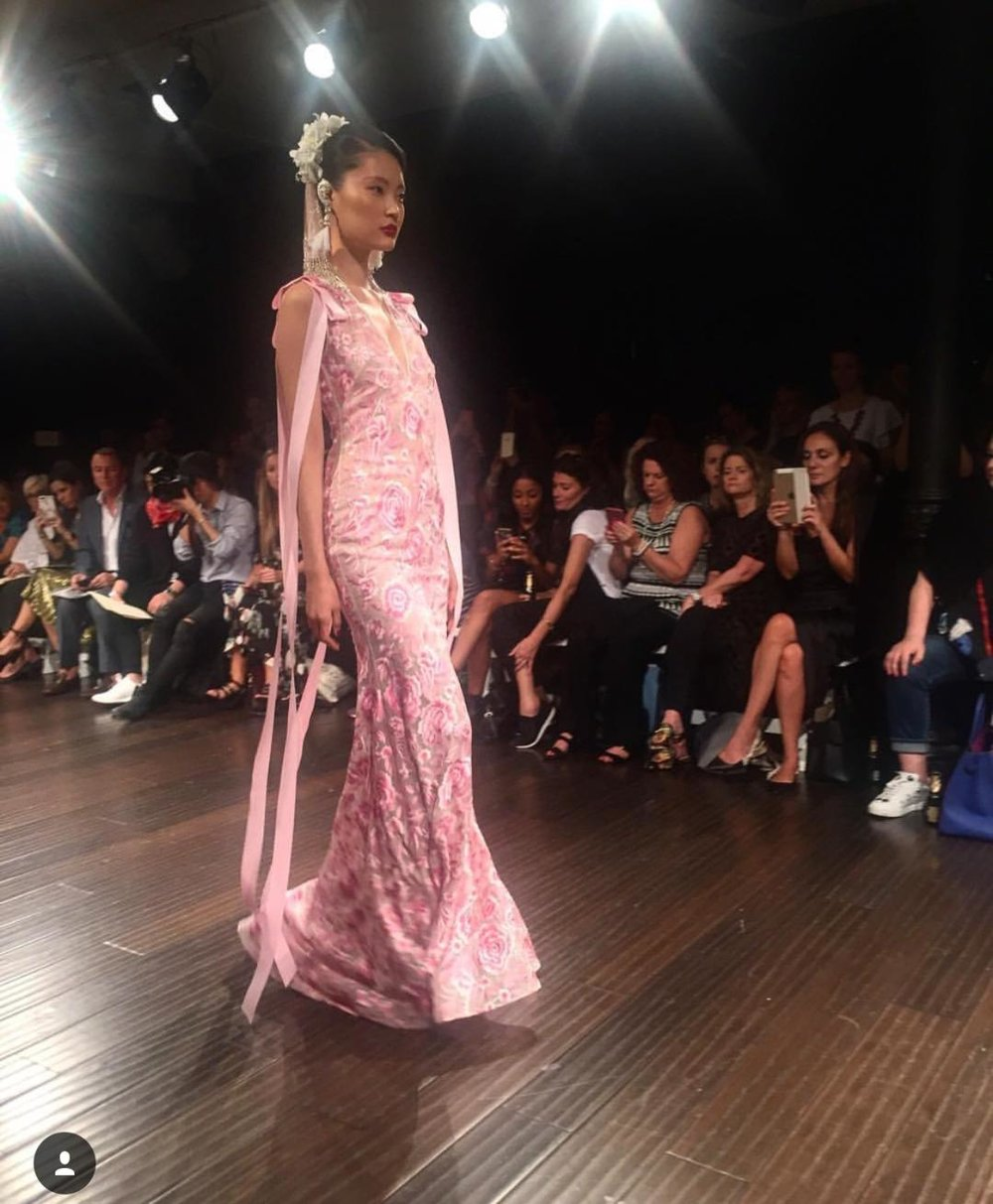 Naeem Khan had of the most amazing collections of Bridal Fashion Week Fall 2018.