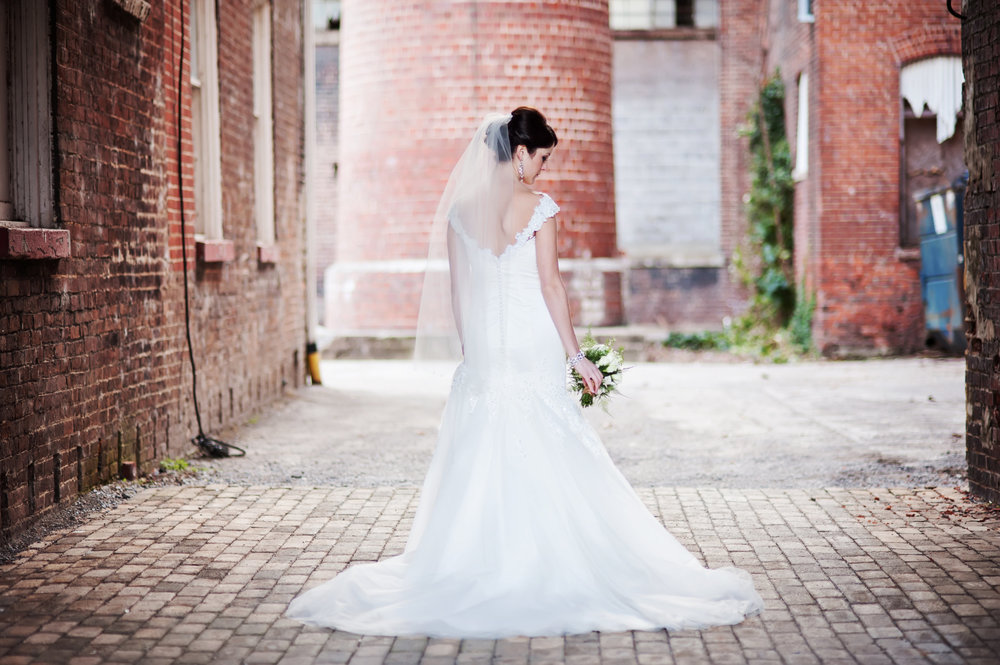 Bridal Portait from Industrial Glam Wedding at The Old Woolen Mill