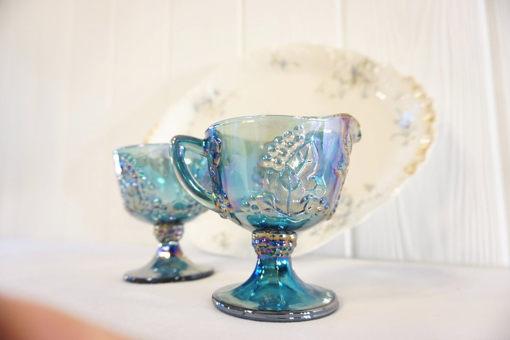 Blue Floral China Plate