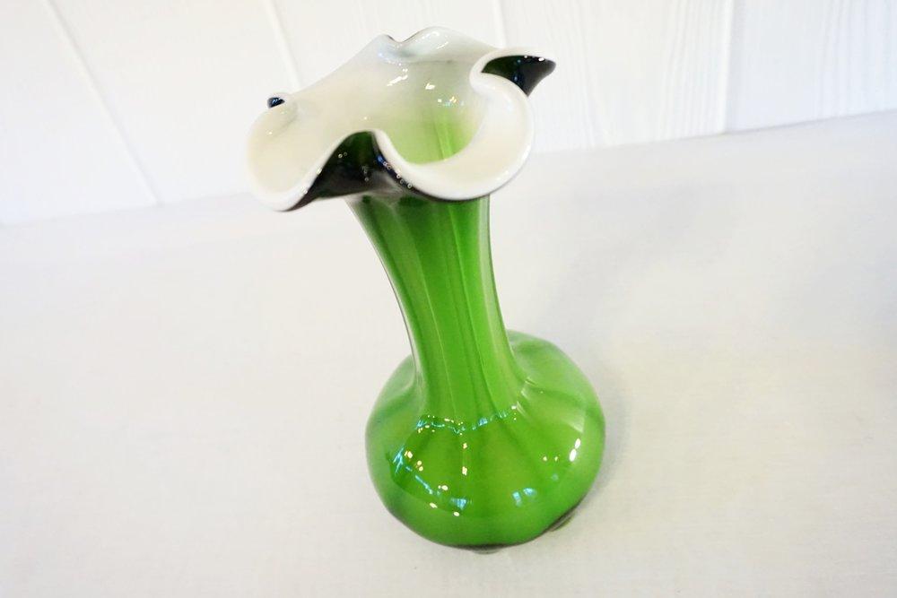 Green Flower Vase